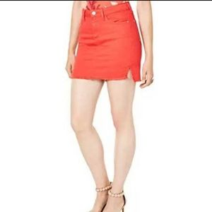 NWT Guess Talia Raw Hem Denim Mini Skirt Size M